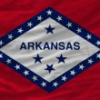 Complete waved flag of american state of arkansas for background — Stock Photo