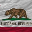 Complete waved flag of american state of california for backgrou — Stock Photo