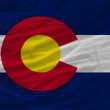 Complete waved flag of american state of colorado for background — Stock Photo