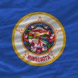 Complete waved flag of american state of minnesota for backgroun — Stock Photo