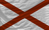 Complete waved flag of american state of alabama for background — Stock Photo