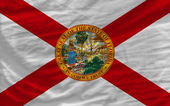 Complete waved flag of american state of florida for background — Stock Photo