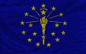 Flaga zupełna kiwał w amerykańskim stanie indiana na tle — Zdjęcie stockowe