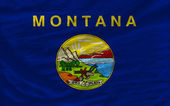Complete waved flag of american state of montana for background — Stock Photo