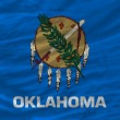 Complete waved flag of american state of oklahoma for background — Stock Photo