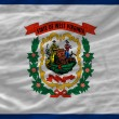 Complete waved flag of american state of west virginia for backg — Stock Photo