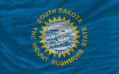 Complete waved flag of american state of south dakota for backgr — Stock Photo