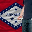 Stock Photo: Recession impact on young mand society in arkansas