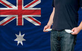 Recession impact on young man and society in australia — Stock Photo