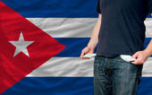 Recession impact on young man and society in cuba — Stock Photo