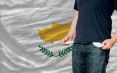 Recession impact on young man and society in cyprus — Stock Photo
