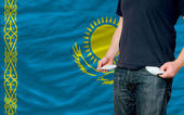 Recession impact on young man and society in kazakhstan — Stock Photo
