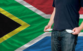 Recession impact on young man and society in south africa — Stock Photo
