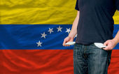 Recession impact on young man and society in venezuela — Stock Photo