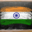 Flag of india on blackboard painted with chalk — Stock Photo