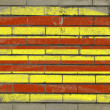 Grunge flag of catalonia on brick wall painted with chalk — Stockfoto