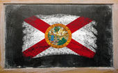 Flag of US state of florida on blackboard painted with chalk — Stock Photo