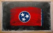 Bandiera di noi dello stato del tennessee lavagna dipinta con gesso — Foto Stock