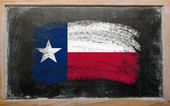 Flag of US state of texas on blackboard painted with chalk — Stock Photo