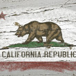 Flag of US state of california on grunge wooden texture precise — Stock Photo