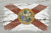 Flag of US state of florida on grunge wooden texture precise pai — Stock Photo