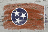 Flag of US state of tennessee on grunge wooden texture precise p — Stock Photo