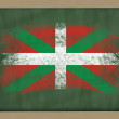 Stock Photo: Flag of basque on blackboard painted with chalk