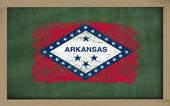 Bandiera di noi dello stato dell'arkansas lavagna dipinta con gesso — Foto Stock