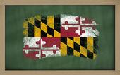 Vlajka z nás stát maryland na tabule s křídou — Stock fotografie