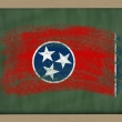 Flag of us state of tennessee on blackboard painted with chalk — Stock Photo