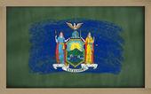флаг сша государство из нью-йорка на доске окрашены с мел — Стоковое фото