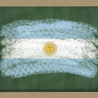 National flag of argentina on blackboard painted with chalk — Stock Photo