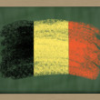 National flag of belgium on blackboard painted with chalk — Stock Photo