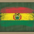 National flag of bolivia on blackboard painted with chalk — Stock Photo #8859456