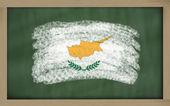 Flaga narodowa Cypru na tablica malowane z kredy — Zdjęcie stockowe