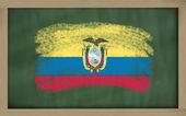Bandera nacional del ecuador en pizarra pintada con tiza — Foto de Stock