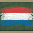 National flag of holland on blackboard painted with chalk — Stock Photo