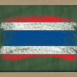 Stock Photo: National flag of thailand on blackboard painted with chalk