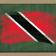 National flag of trinidad tobago on blackboard painted with chal — Stock Photo