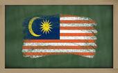 Bandeira nacional da malásia no quadro-negro pintado com giz — Foto Stock