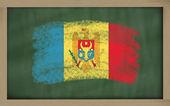 национальный флаг молдовы на доске, окрашены с мел — Стоковое фото
