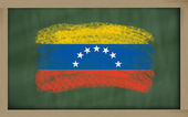 National flag of venezuela on blackboard painted with chalk — Stock Photo