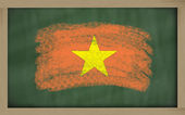 National flag of vietnam on blackboard painted with chalk — Stock Photo