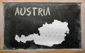 Overzicht-kaart van Oostenrijk op blackboard — Stockfoto