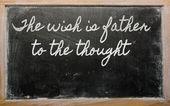 表达式-希望是思想-s 上写的父亲 — 图库照片