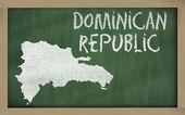 黑板上的多米尼加大纲地图 — 图库照片