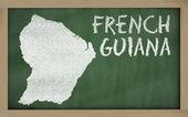 контурная карта французской гвианы на доске — Стоковое фото