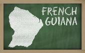 Mapa de contorno da guiana francesa no quadro-negro — Foto Stock