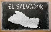 黑板上的萨尔瓦多大纲地图 — 图库照片