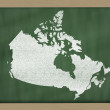 Outline map of canada on blackboard — Photo